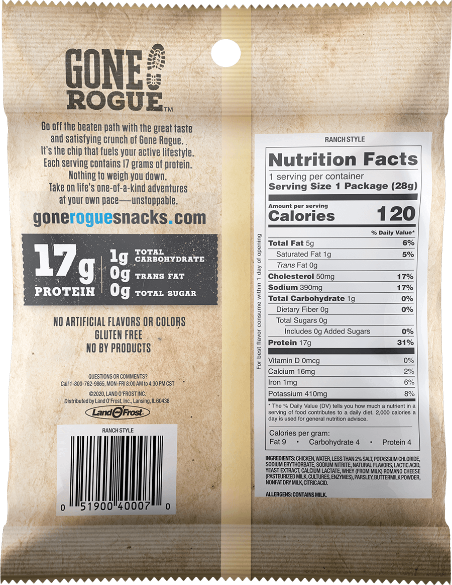 Ranch Style Chicken Chips - Nutrition Information